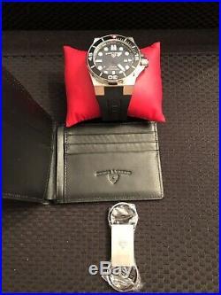 Swiss Legend Abyssos Automatic Mens Watch, Wallet, Keychain Set
