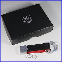 TAG Heuer Luxury Black And Red Leather Key Ring Very Rare 2017