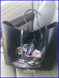 Three Piece Set Coach Camaro ZL1 Car Emblem Leather Tote Wallet Keychain