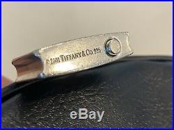 Tiffany & Co RARE Silver 1837 Padlock Black Rubber Key Ring Chain Keychain
