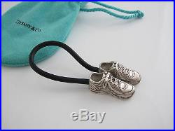 Tiffany & Co RARE Silver Sneaker Black Rubber Keychain Key Chain Key Ring
