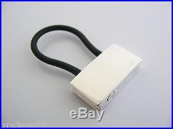 Tiffany & Co Silver 1837 Padlock Black Rubber Key Ring Key Chain Keychain Rare