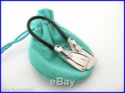 Tiffany & Co Silver Scuba Flipper Fins Black Rubber Key Ring Chain Keychain Gift