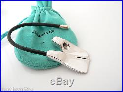 Tiffany & Co Silver Scuba Flipper Fins Black Rubber Key Ring Key Chain Keychain