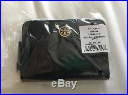 Tory Burch 45255-018 Robinson Zip Coin Case Black / Royal Navy
