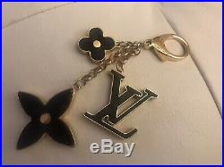 Truly ADORABLE Louis Vuitton Key Chain In Black And Gold