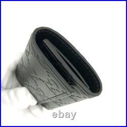 Unused GUCCI Shima Black Leather 6 Key case /51204