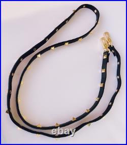 Valentino Garavani Demilune Bag Satchel Black Leather Authentic