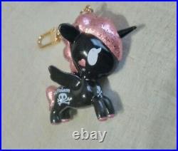 Valfre Tokidoki Unicorno Unicorn Bag Charm Keychain Poison Pink Black figure