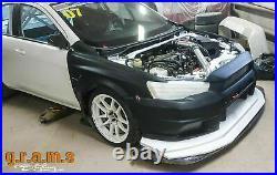 Varis Style Front Bumper + CARBON Lip for Mitsubishi Lancer Evo X v8