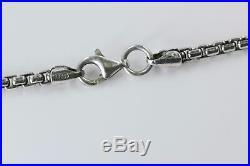 Versani Key Pendant Necklace withBlack Diamonds & Garnet in Silver 28 Chain