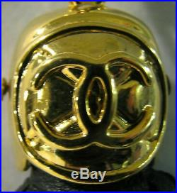 Vintage Chanel Leather Tassel, Bag Charm, Key Chain