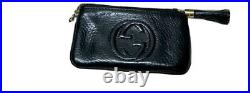 Vintage Gucci Soho Soft Leather Key Chain Pouch. Black. Free shipping