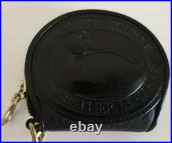 Vtg. Dooney & Bourke Big Duck Coin Purse and Key Chain Black & Duck