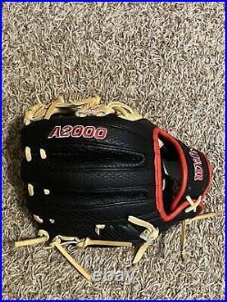 Wilson A2000 PF88 11.25 Black Snakeskin Blonde Web NEW withkeychain RHT 2021