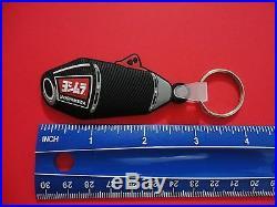 Yoshimura logo & 3D RS4 muffler keychain ring. 2 key chains